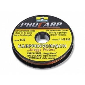 Поводковый материал Snaggy Waters carp leader, 0,3mm. - Фото