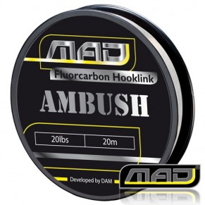Ambush Fluorocarbon 20M 20lbs поводковый материал MAD - Фото