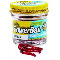 Powerbait Blood Worms Mudd 150шт. мотыль Berkley