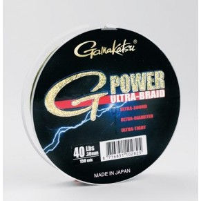 Ultra G-Power 150m 6lbs шнур Gamakatsu - Фото
