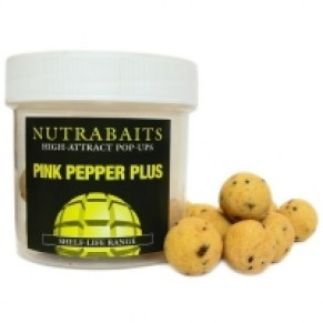 Pink Pepper Hookbaits 12mm Pop-Up плавающие бойлы Nutrabaits - Фото