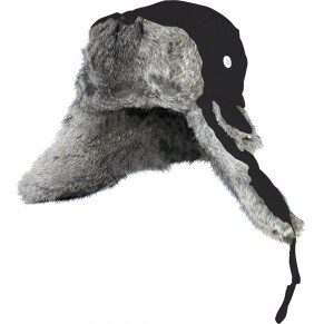 Winter hat with natural fur (black) L Norfin - Фото