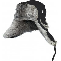 Winter hat with natural fur (black) XL Norfin