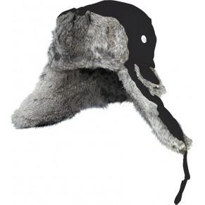 302766-XL шапка-ушанка на нат. меху чёрная Norfin - Фото