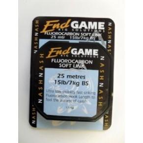 Fluorocarbon Soft link Line 20lb 25m флюоракарбоновый материал Nash - Фото