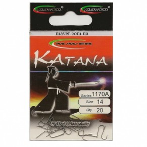 "Крючки ""Katana"" Япония(20 шт/уп) - 1170 №18 Maver - Фото"