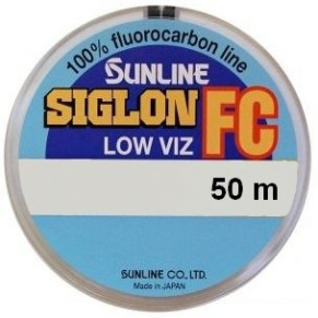 SIG-FC 50м 0.380мм 9.1кг поводковый флюорокарбон Sunline - Фото
