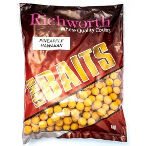 "44-06 ""PINEAPPLE HAWAIIAN"" Boilies 20mm 1kg Richworth - Фото"