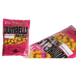 01-06 Pineapple Hawaiian Dumbell Boilie Pellets, 400g бойлы Richworth - Фото