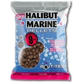 Halibut Marine Pre-Drilled Pellets 20.0mm 900g пеллетс Bait-Tech - Фото
