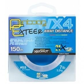 Exteer Away Distance 0.104mm 6lb 2.7kg 150m шнур Pontoon 21 - Фото