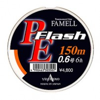 PE Flash 10 lb 150m orange шнур Yamatoyo