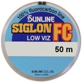 SIG-FC 50м 0.550мм 17кг поводковый флюорокарбон Sunline - Фото