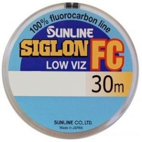 SIG-FC 30м 0.350мм 8кг поводковый флюорокарбон Sunline - Фото