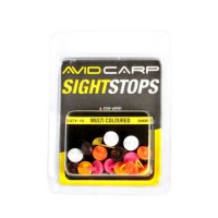 Avid Carp Sight Stops Mega Floating - Short Multi-coulored стопоры