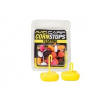 Avid Carp Corn Stops Floating  - Short Yellow стопоры