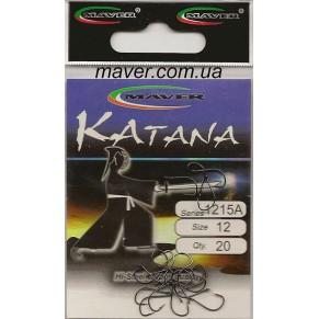 """Крючек """"Katana"""" Япония(20 шт/уп).- 1215A №8 Maver - Фото"""