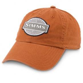 6-Panel Washed Twill Cap Orange кепка Simms - Фото