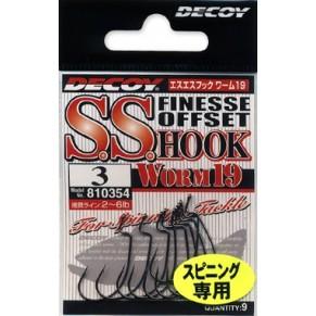 S.S Hook Worm 19 n3, 9шт крючок Decoy - Фото