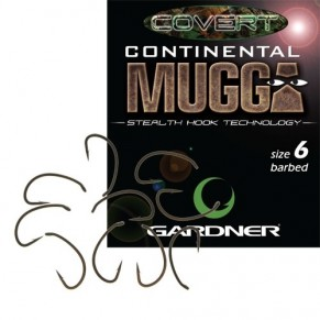 Covert Continental Mugga size 6 10шт крючок Gardner - Фото