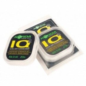 IQ Extra soft 20m spools 20lb флюоробарбоновая леска Korda - Фото