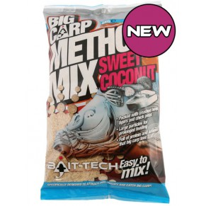Big Carp Coconut Method Mix 2kg прикормка Bait-Tech - Фото