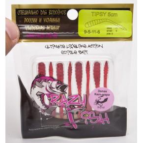 Tipsy 9-5-11-5 ж.чеснок силикон Crazy Fish - Фото