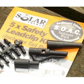 Safety Leadclip Kit Sediment Black клипса в наборе Solar - Фото