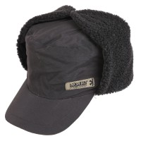 302781-L Inari Black шапка-ушанка на мембране с козырьком Norfin