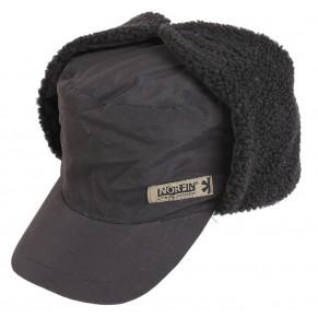 302781-L Inari Black шапка-ушанка на мембране с козырьком Norfin - Фото