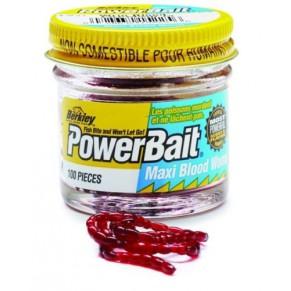Powerbait Blood Worm Maxi B 100шт. мотыль большой Berkley - Фото