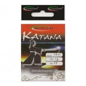"""Крючек """"Katana"""" Япония(20 шт/уп).- 1041 №18 Maver - Фото"""