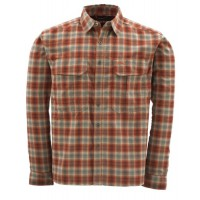 Coldweather Shirt Redwood Plaid M Simms