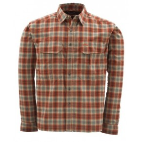 Coldweather Shirt Redwood Plaid XL рубашка Simms - Фото
