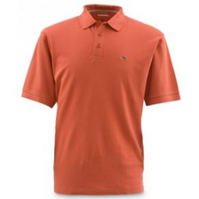 Trout Polo Orange L футболка Simms - Фото
