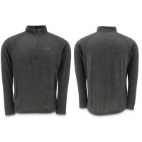 Downunder Merino Mid Zip Top Charcoal M Simms