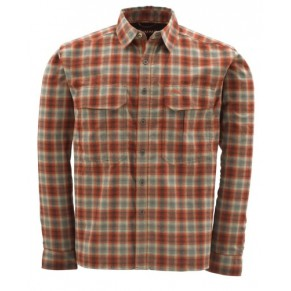 Coldweather Shirt Redwood Plaid L рубашка Simms - Фото