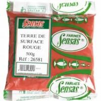 Добавка Sensas Terre de surface для поверхностной прикормки красная 500г