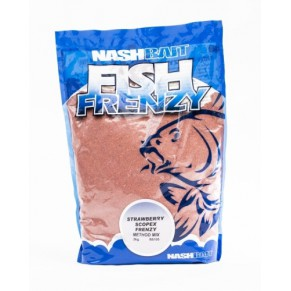 Fish Frenzy Method Mix Strawberry/Scopex Red 1kg прикормка Nash - Фото