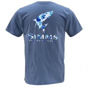 T-Shirt Tarpon Camo SS River L футболка Simms - Фото