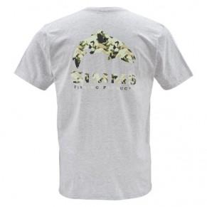 T-Shirt Trout Camo SS Ash Grey M футболка Simms - Фото