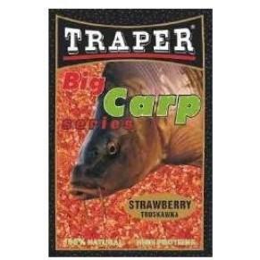 Big Carp 1,0kg клубника прикормка Traper - Фото