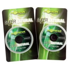 Super Natural 18lb /8,2kg Weedy Green поводковый материал Korda - Фото