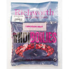 03-08 Luncheon Meat 10mm Midi Boilies, Handy Packs 225g бойлы Richworth - Фото