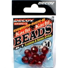 B-1 Kachi Kachi Beads red M, 9шт бусинка Decoy - Фото