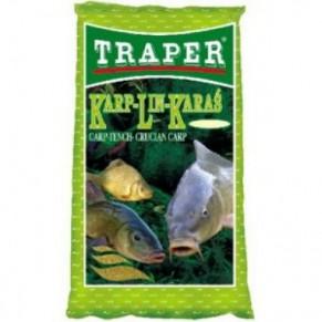 Простая 1кг. карп-линь-карась прикормка Traper - Фото