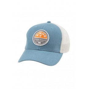 Patch Trucker Cap Vintage Tarpon Cadet Blue кепка Simms - Фото