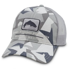 Trout Trucker Cap Fractal Camo Nightfall кепка Simms - Фото