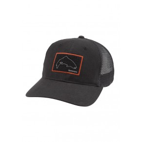 High Crown Patch Trucker Black кепка Simms - Фото