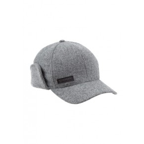 Wool Scotch Flexfit Flap Cap Charcoal Simms - Фото